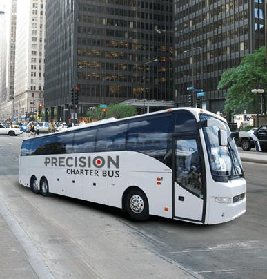 56-passenger charter bus